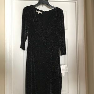 Black and Silver cocktail dress